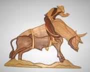 bull rider wall hanging