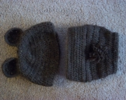 brown bear hat and diaper cover