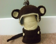 monkey photo prop hat & diaper cover