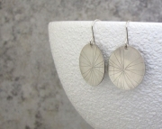 Dandelion Seed Silver Rustic Earrings- Wishes Forever