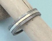 Silver Stacking Hammered Multi-Textured Eternity Rings