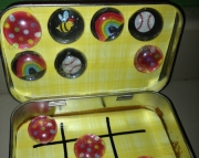 Tic-Tac-Toe Tin Storage  Treasure Box
