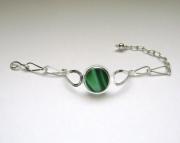 Sea Glass Jewelry - Sterling Rare Victorian English Sea Glass Bracelet
