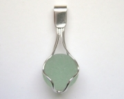 Sea Glass Jewelry - Sterling Scottish Sea Glass Orb Pendant