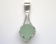 Sea Glass Jewelry - Sterling Scottish Sea Glass Orb Pendant