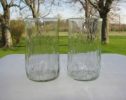 2 Recycled Glass Tumblers from Crush Soda Bottles