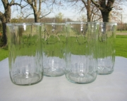 4 Recycled Glass Tumblers from Crush Soda Bottles