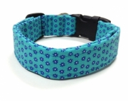 Dog Collar  Little Blue Flowers