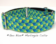 Dog Martingale Collar GEO BLUE