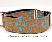 Dog Martingale Collar   DemiBlue