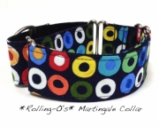 Dog Martingale Collar  Rolling Os