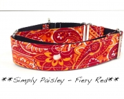 Martingale - Simply Paisley - Fire Red