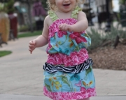 Jewel Bubble Top with Matching Ruffle Skirt. Size 6 Months to 6 Years.