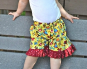 Summer Bugs Ruffle Shorts size 12 Months to size 6