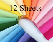 Wool Felt Sheets, Choose any TWELVE Sheets, 8 x 12