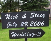 Custom Wood Wedding Signs On 4ft Stake