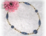 Lapis and Pearl Beaded Necklace