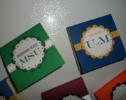 MICHIGAN/MICHIGAN STATE Magnetic Post-It-Note Folders