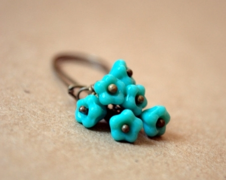 Blooming Trio Turquoise Earrings