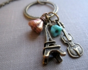 Bonjour. Paris Charm Trinket Necklace