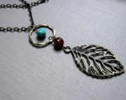 Long Leaf and Loop Necklace