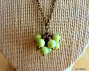Vibrant Green Cluster Necklace