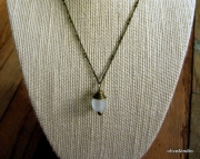 Opaque Sea Glass Pendant Necklace