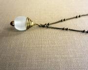 Opaque Sea Glass Pendant Necklace