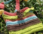 Hand Crocheted Hobo Purse