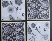 Coasters - Black & White Elegance