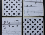 Coasters - Music and Polkadots