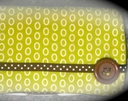 Boutique Travel Wipes Case in Green