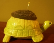 Ceramic Green Turtle Wool Pincushion