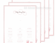 Girl Baby Book - 10 page set