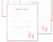 Girl Baby Book - 1 Page Pick