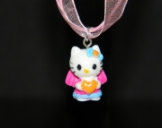 Hello Kitty charm on light pink organza ribbon