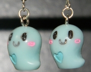 Blue ghost earrings