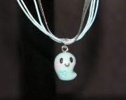 Blue ghost necklace
