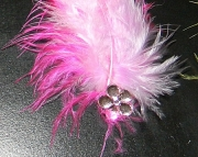Pink and light purple feather barrette