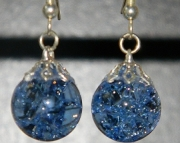 Periwinkle crackle stone earrings