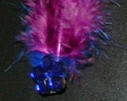 Blue and purple feather barrette