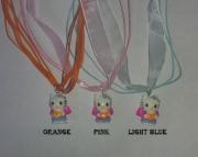 Hello Kitty Charm on Light Pink Organza Ribbon