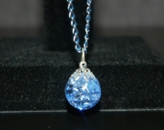 Periwinkle stone on blue chain necklace