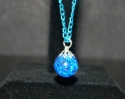 Azure stone on blue chain necklace