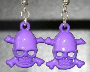 Purple skull earrings