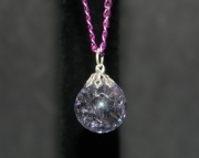 Purple stone on purple chain necklace
