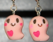 Pink ghost earrings