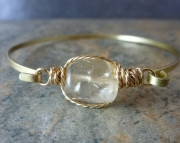 Framed Bangle - Citrine