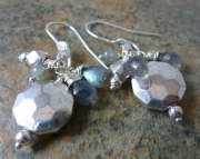 Gainsborough Earrings  Silver and Labradorite Drop Earrings