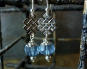 Blue Diamond Weave Earrings
